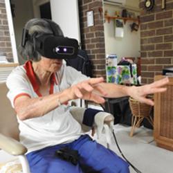 Bonnie doing stroke rehabilitation