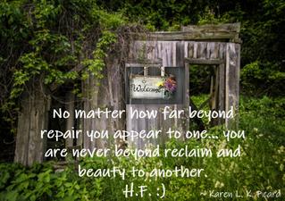Never beyond reclaim :)