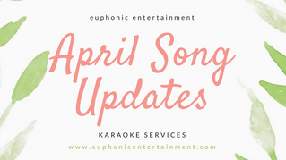 April 2017 Karaoke Song Update