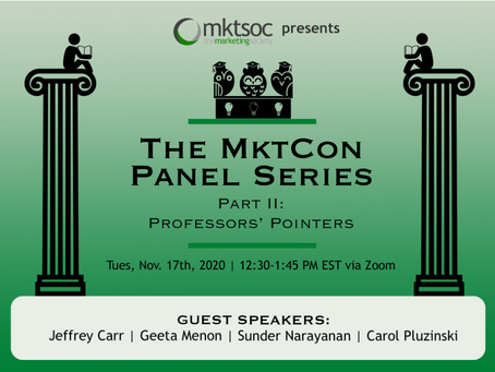 A MktCon Series: Professors' Pointers