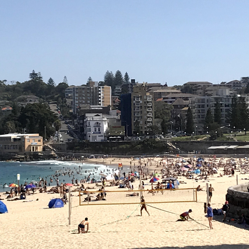people at coogee beach
