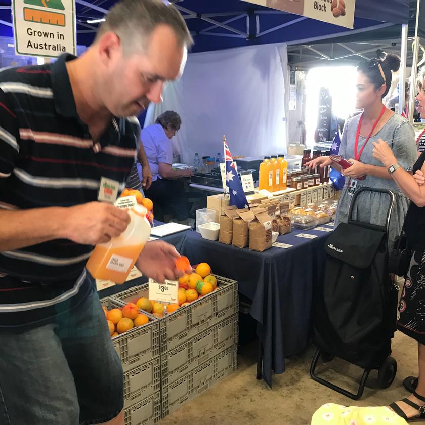 orange juice at DJS Garden Fresh Citrus