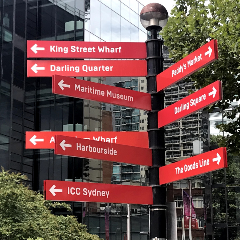 poor directional city signage