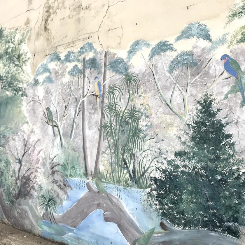 natural landscape mural