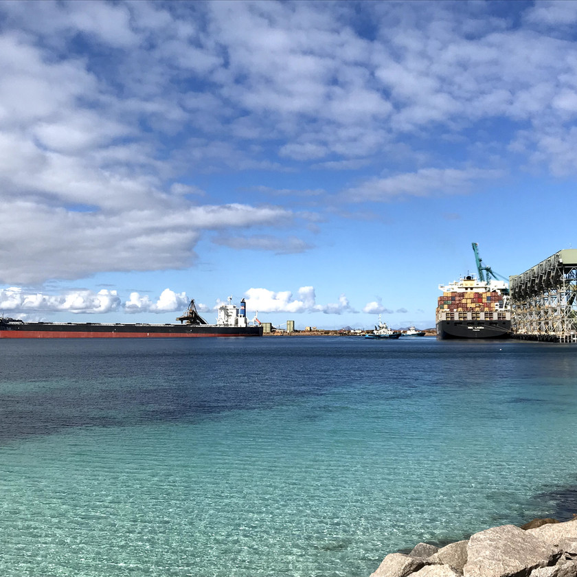 container ships in esperance harbour