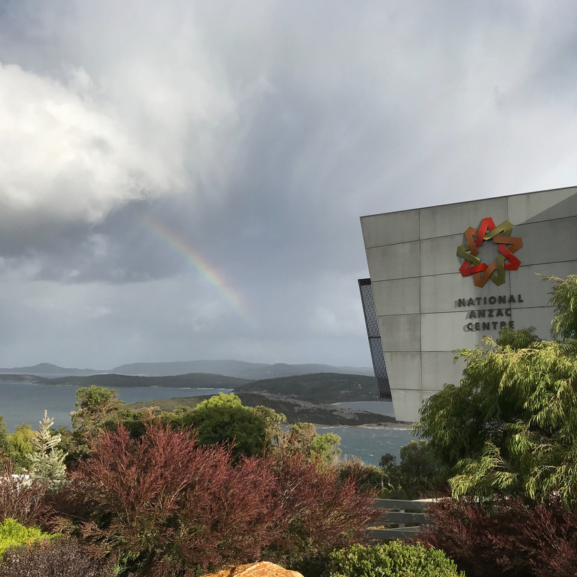 stormy day at national anzac centre