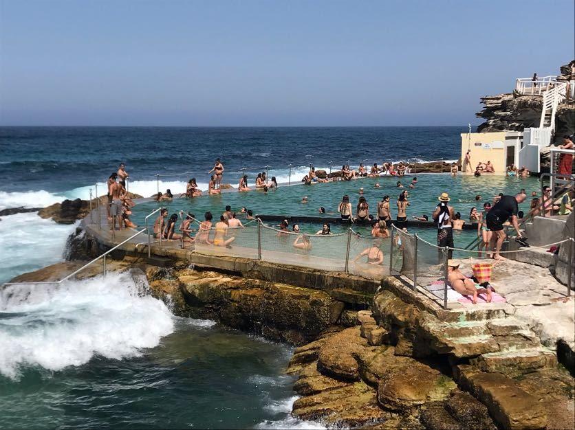 people in bronte baths