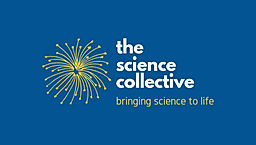 science collective_vertical gold on blue