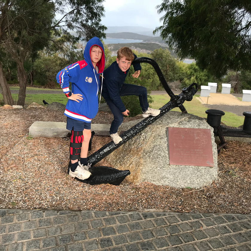 anchor at anzac museum