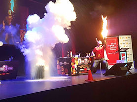 Fire and smoke at Street Science event