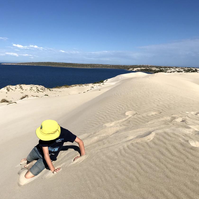 Chase in sandhills