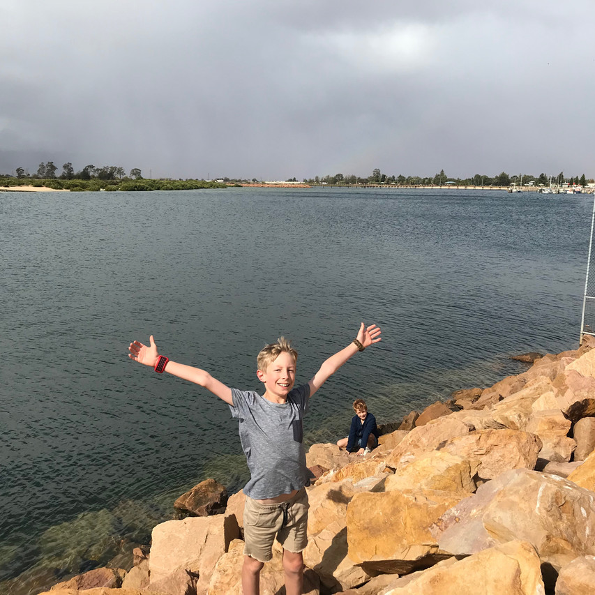 Ollie at Port Pirie port