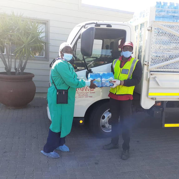 Coca-Cola Namibia  With their kind hearts sponsored drinks for our staff