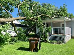 East Higgins storm damage