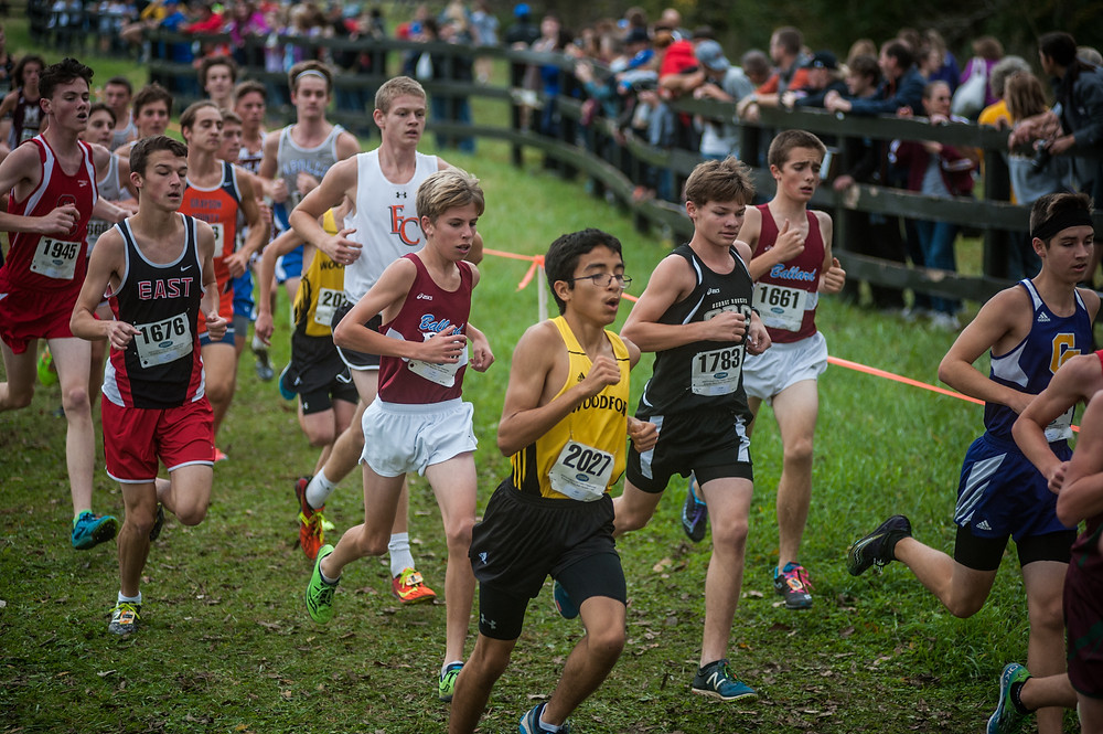 WCHS SENIOR ABRAN SANTOS finished 11th in the varsity boys' 5K at the West Jessamine Invitational Sept. 29. (File photo by Bill Caine)