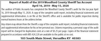 Sheriff Audit Report - Tax Account 3-4-2