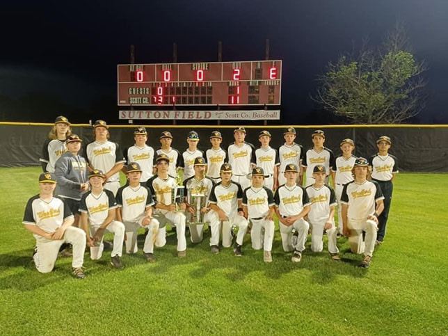 THE WCMS BASEBALL TEAM won the Bluegrass Conference Championship June 1 with an 11-1 win over Bourbon County. (Photo by Erin Carter)
