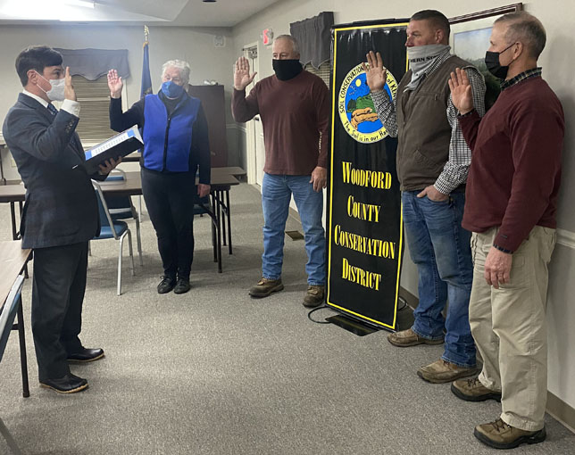 Conservation officers swearing in