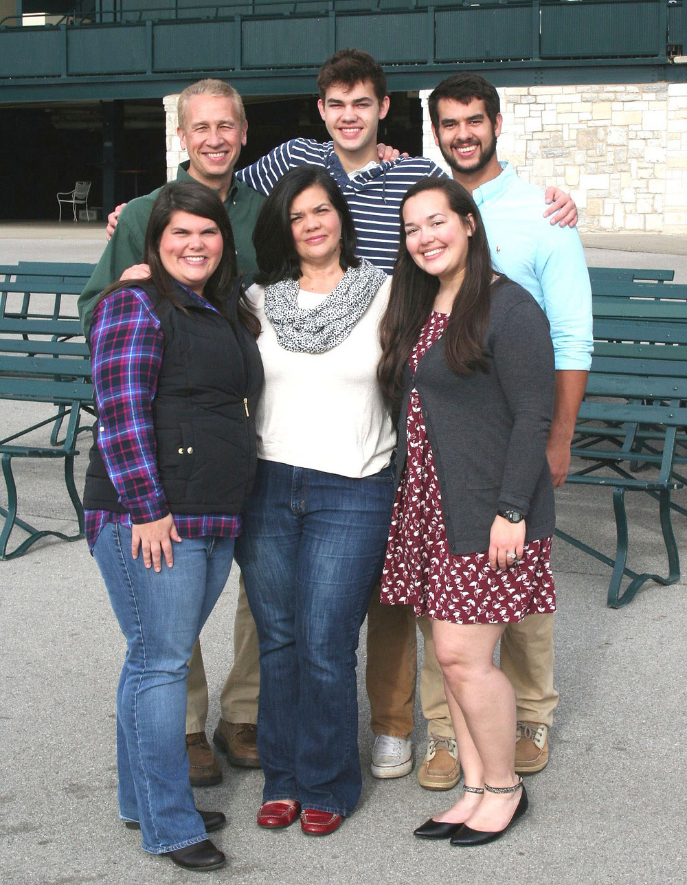 DAVID COUCH, top left, was one of 25 people around the country presented with a 'Dreamer, Doer and Driver' award in Government Technology magazine's April edition. From top left, at Keeneland last Thanksgiving, Couch, sons Logan and Matthew. From bottom left, daughter Alissa, wife Tina, and daughter Amanda. (Photo submitted)