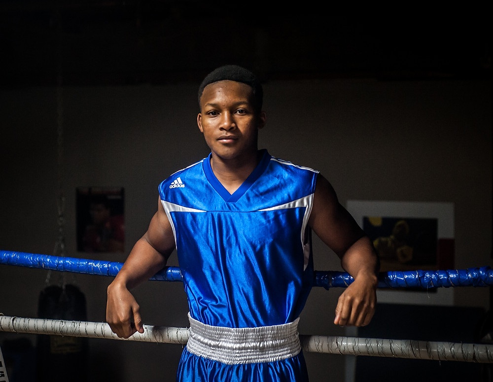 """MARIK """"BLACK MAMBA"""" BLACK, a Versailles native, will headline a card of nine fights at the Woodford County Fair Saturday, June 23. Black is 5-1 in his young fight career. (Photo by Bill Caine)"""