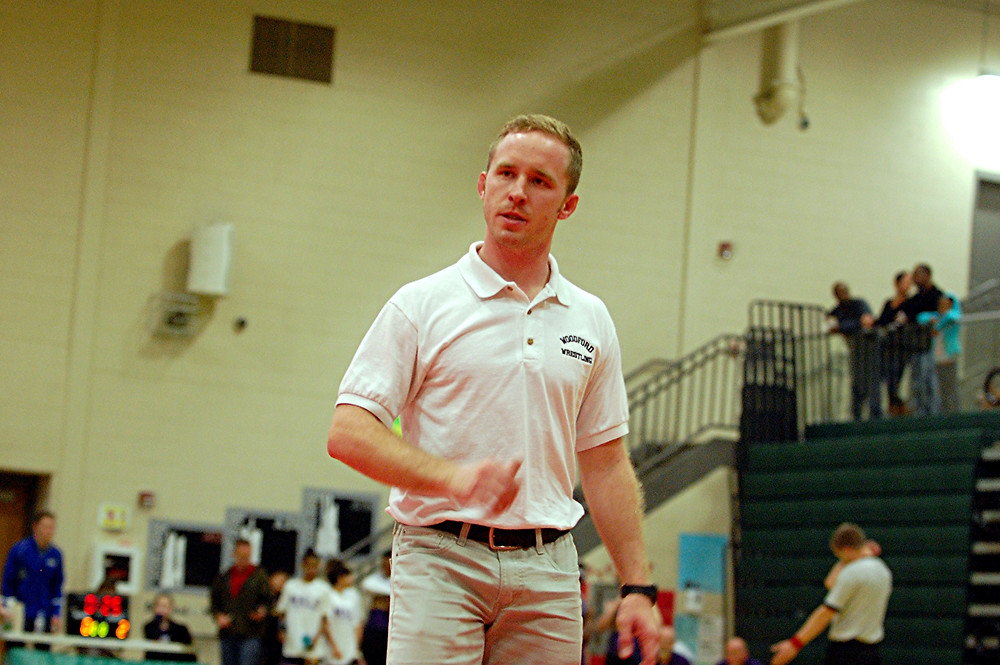 RUSTY PARKS JR. enters his third year as head coach of the Mat Jackets and is looking to guide his team to its 14th state championship. (File photo by Rick Capone)