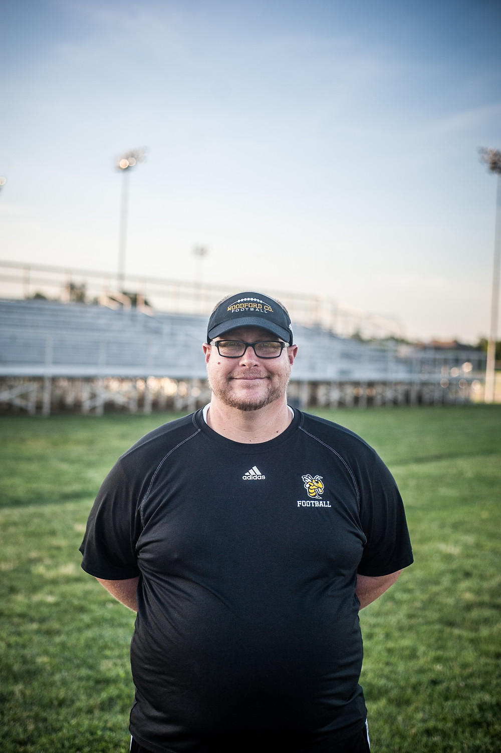 DAVE THOMAS, who lives in Versailles, is the new head coach of the Woodford County Middle School football team. (Photo by Bill Caine)