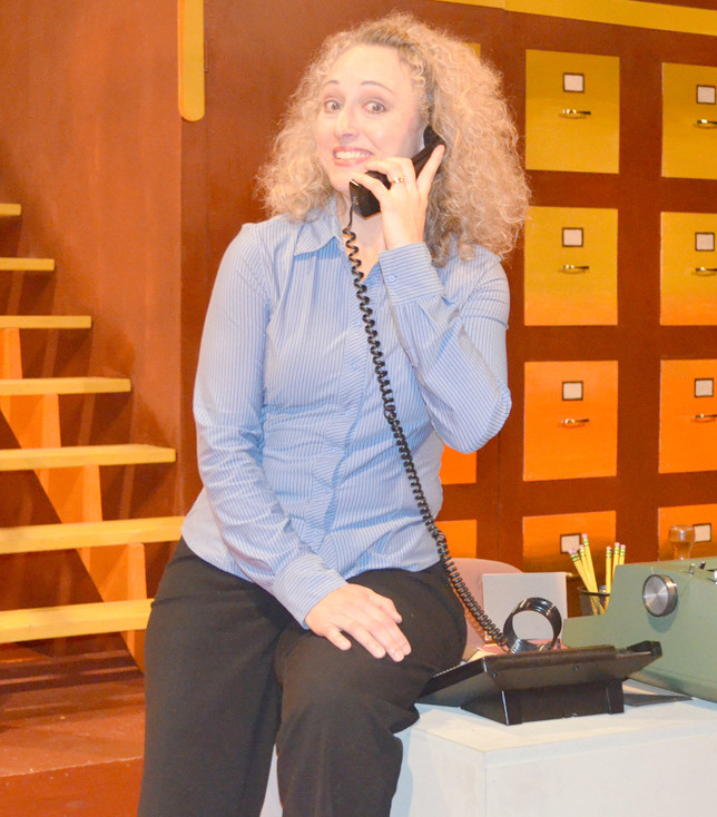 """MELISSA RAE WILKESON returns to the Woodford Theatre stage for """"Noises Off!"""" The Versailles actor was also onstage for a Woodford Theatre production of the Michael Frayn comedy in 2008, which was directed by Beth Kirchner. (File photo by Bob Vlach)"""
