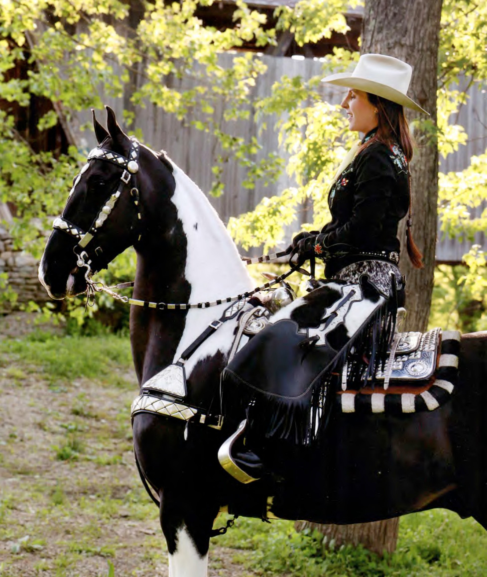 DENA LOPEZ, shown riding CH Doctor Zhivago, rode in this year's Rose Bowl Parade in Pasadena, Calif. (Photo submitted)