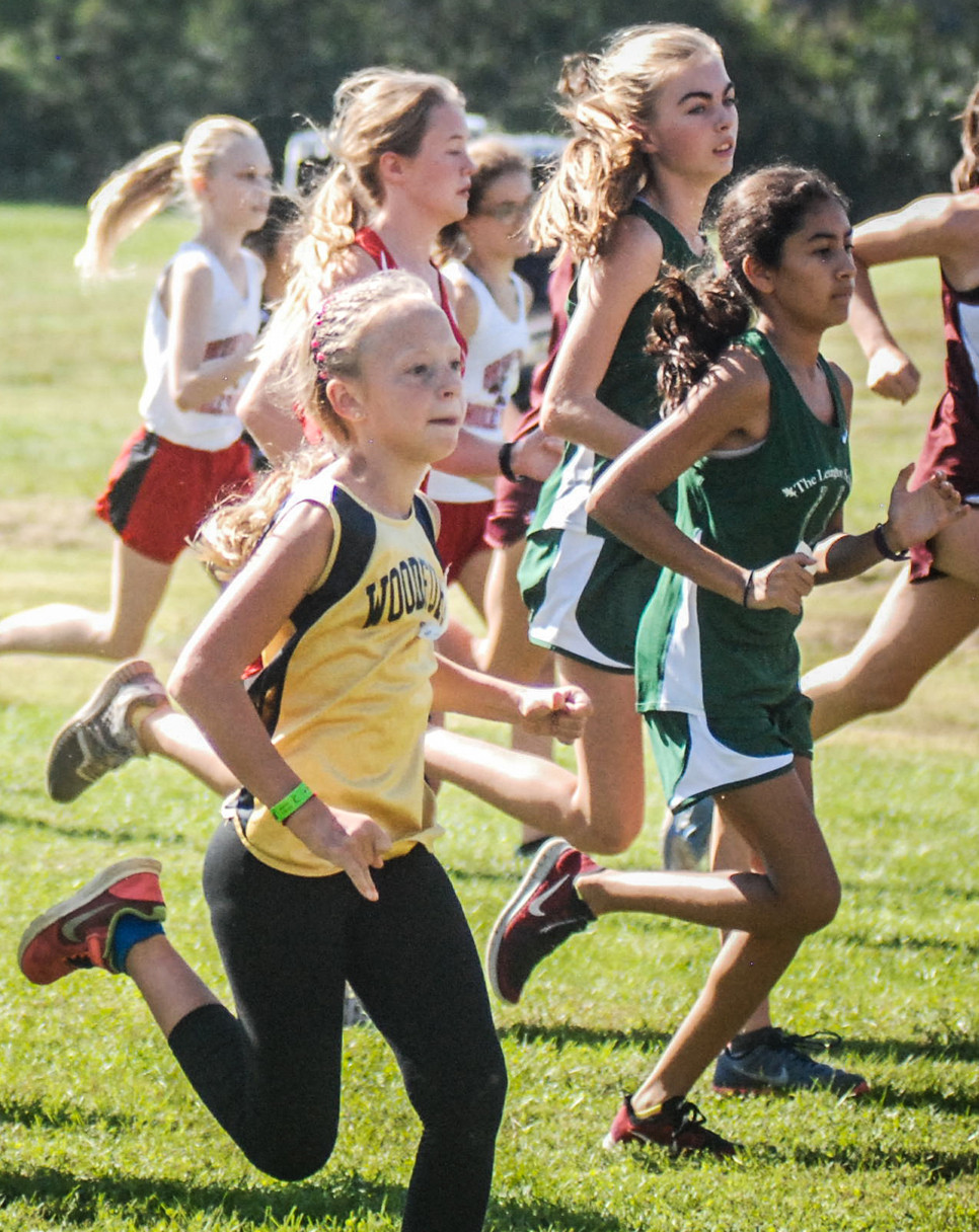 GABBY GAMPPER runs in the 20th annual Woodford County Invitational that took place on Oct. 14 at Falling Springs. (Photo by Abigail Caine)
