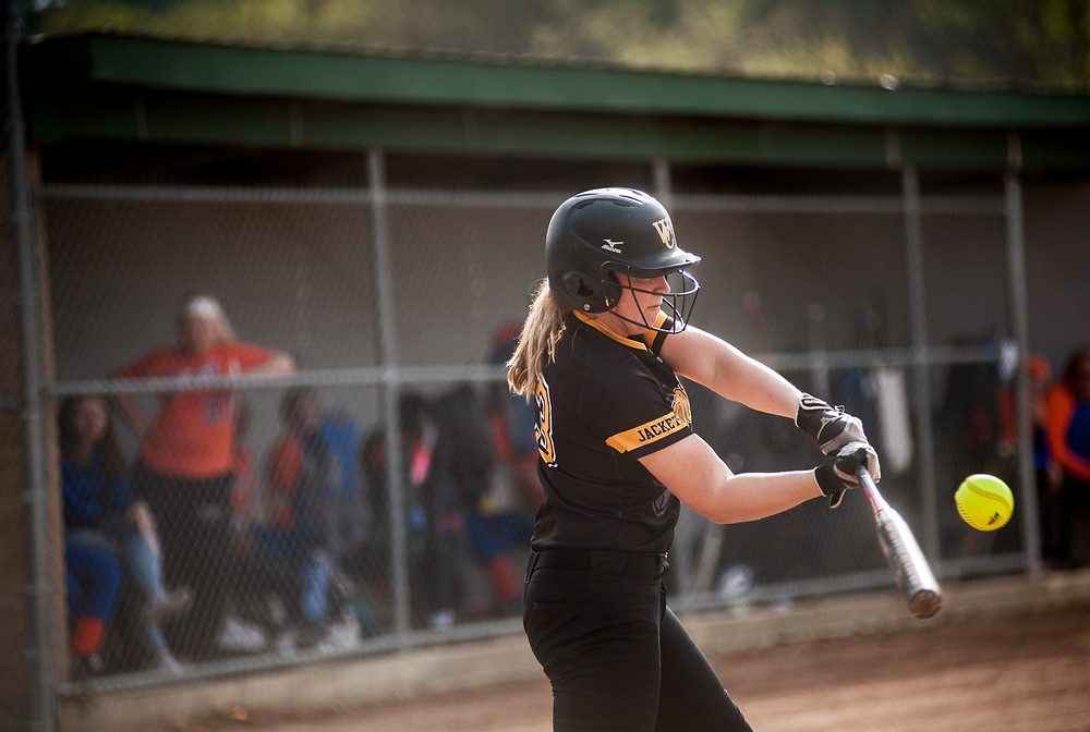 WCHS JUNIOR ABBY MOFFETT'S power numbers at the plate are on the rise after a breakout season in 2018. (File photo by Bill Caine)