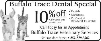 Buffalo Trace Vet Dental Special 1-28-eo