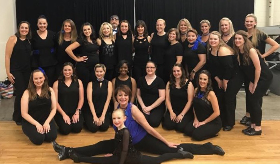 PARTICIPANTS in Jane's School of Dance's 45th recital included, front, Jane Schenck, and Kimber Dragoo; first row, from left, Jessica Adams Brickler, Grace Edwards, Maggie Yeung, Kamille Cole, Melissa Busby Gregory, Holly Akers, and Paige Craig; back row, Mary Faust Shryock, Tressa Brumley Milburn, Johnna Hockensmith, Sarah Schenck Ladnier, Joni Michelle Lanza, Megan Schenck Dragoo, Steve Schenck, Betsy Preston, Meagan Beth Kelley, Garrett Burczyk, Rebecca Sloan Valentine, Rhonda Anderson, Jill Hedges Hall, Sylvia Chervus, Emily Sloan Johnson, Sarah Miller, and Madeline Fuller. (Photo submitted)