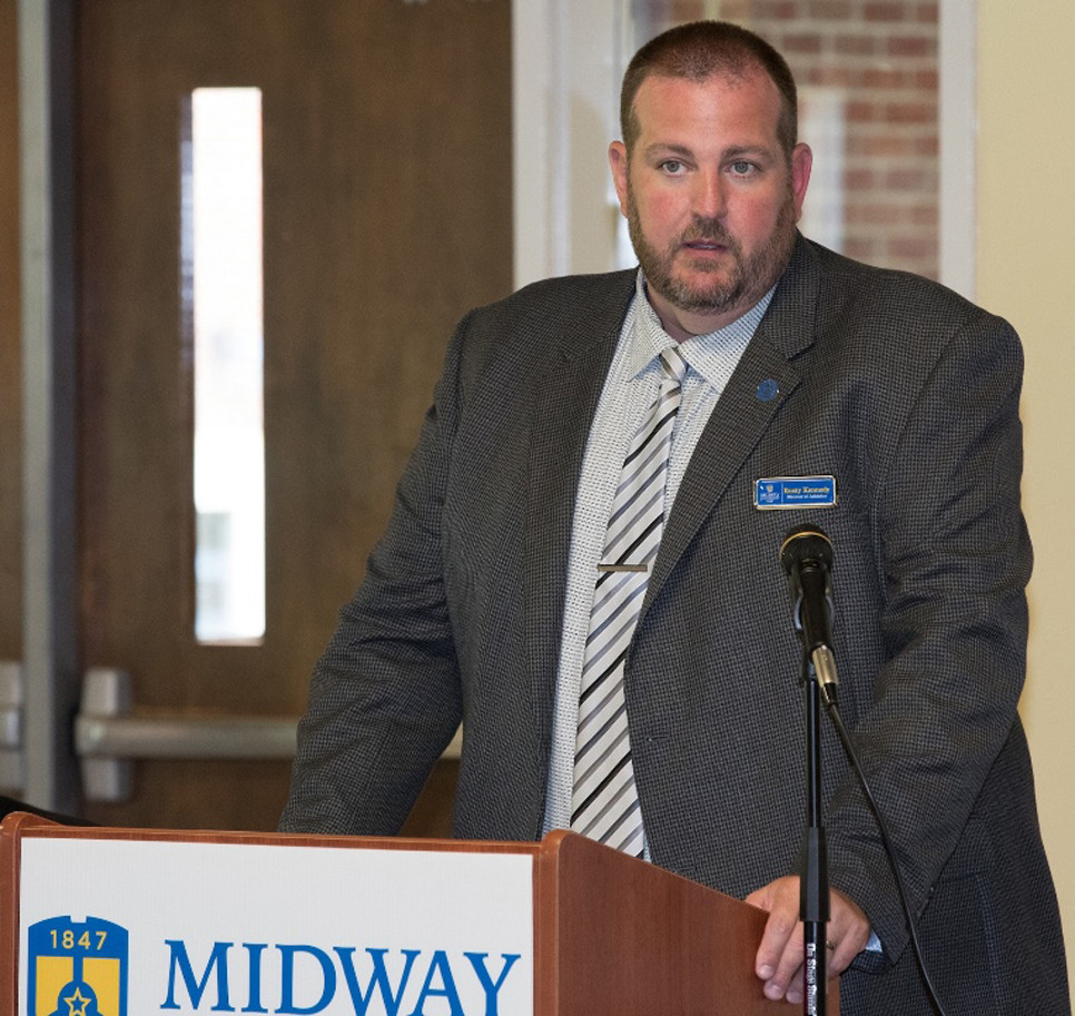 MIDWAY UNIVERSITY's Athletic Director Rusty Kennedy was named RSC's Athletic Director of the Year. (Photo submitted)