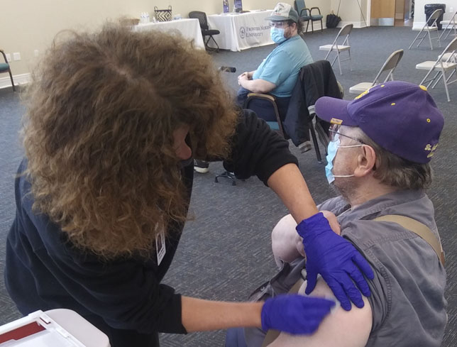 April 14 vaccine shot