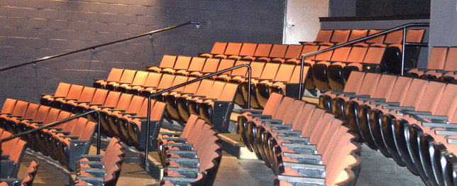 WOODFORD THEATRE needs a new lighting system and soundboard to improve the production quality of shows, according to artistic director Trish Clark. She said the 16-year-old theater's seats remain in remarkably good shape. (Photo by Bob Vlach)