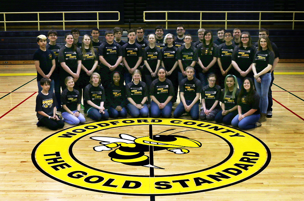 THE WCHS ARROW JACKETS completed their season at the NASP world tournament.FroFrom left, front, are Colin McGowan, Isabella Steely, Hailey Kraft, Laine Call, Anemone Rishel, Osiana Zinn, Shannon Howell, Annie Denington, Ariana Washington, Morgan Murray; second row, Joseph Miele, Melody Gilpin, Julia Brillowski, Jeremiah Greathouse, Caleb Rockhold, Ginny Gregory, C.J. Tupman, Anna Dorsey, Abran Santos, Emily Morrison and Madison Hill; back row, Nathan Jackson, Peter McGowan, Shaun Lavin, Caleb Standley, Devon Wilson, Cameron Jackson, Aaron Collings, Eli McIntosh, Evan Watson, Ethan Parker, Zack Pettyjohn Not pictured are Brodie Blair, Emily Tackett, Justin Lehmkuhler, Lauren Hall, McKenna Hewett, Shiloh Smith, Coach Cindy Peal and assistant Coach Amanda Howard. (Photo submitted)