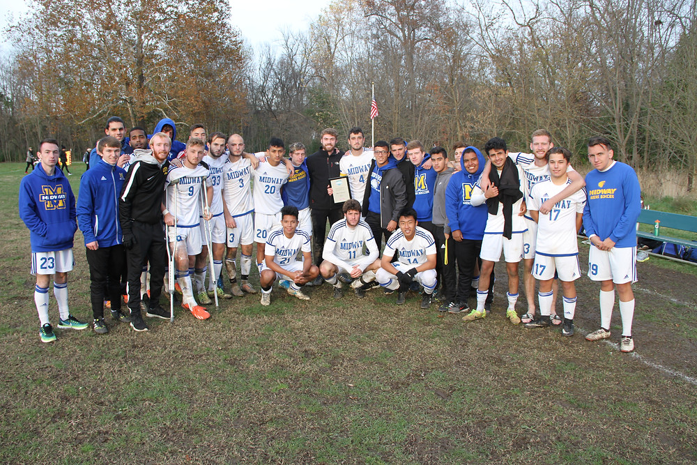 MIDWAY UNIVERSITY'S MEN'S SOCCER TEAM was the runner-up in the River States Conference Tournament after falling to the tournament champion, West Virginia Tech on penalty kicks, 3-2. (Midway University Photo)