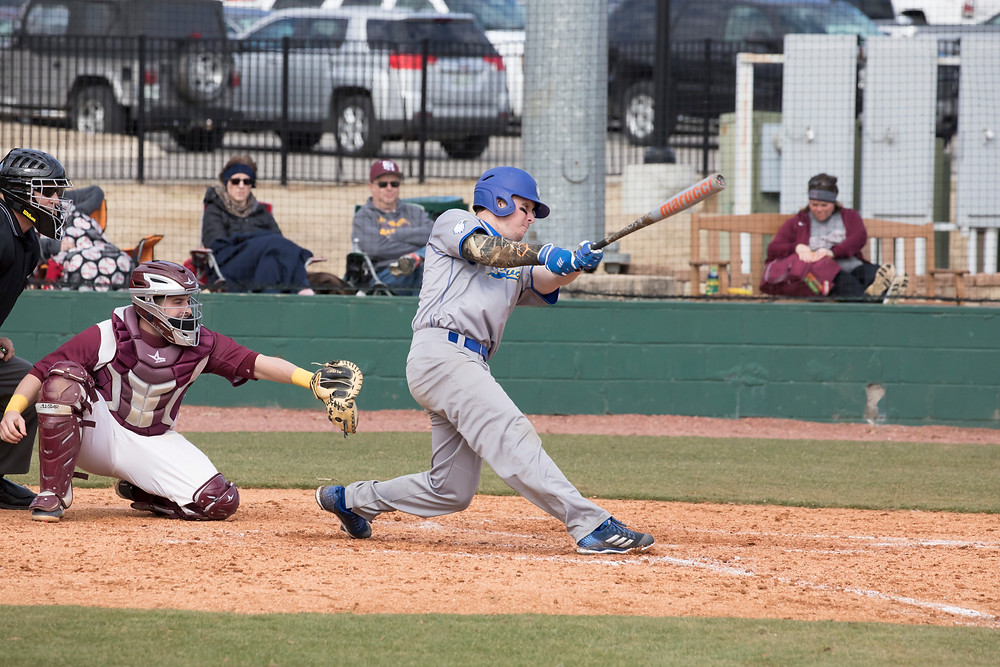 DANNY MAGUIRE, a senior from Dana Point, Calif., went 5 for 8 with a double, a home run, six RBI's and six runs scored as Midway swept a three-game series from Asbury University. (Midway Athletics photo)