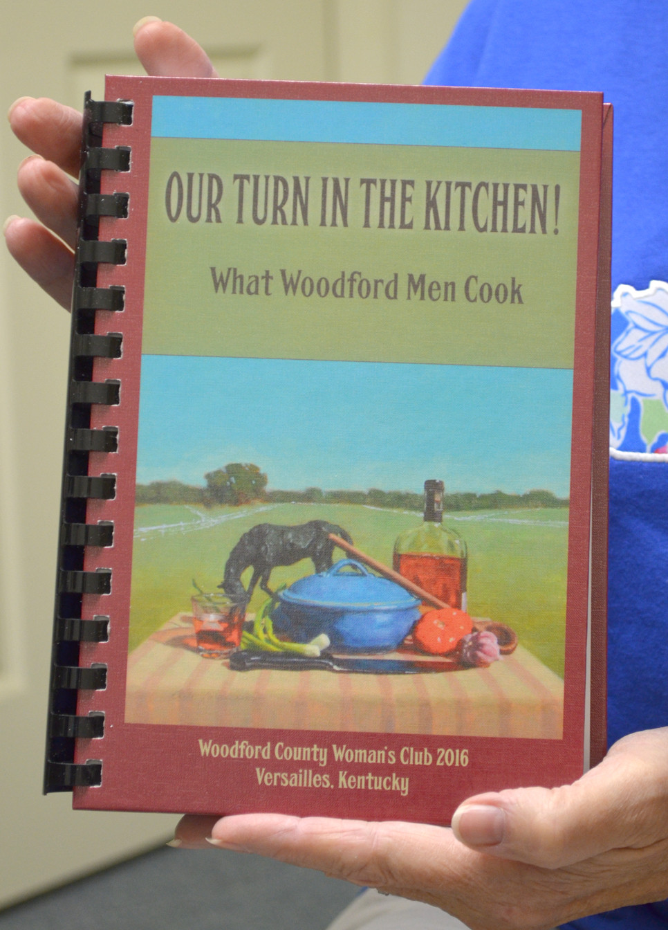 OUR TURN IN THE KITCHEN: What Woodford Men Cook will support next year's Coats and Shoes for Kids, an annual project organized by the Woodford County Woman's Club. (Photo by Bob Vlach)