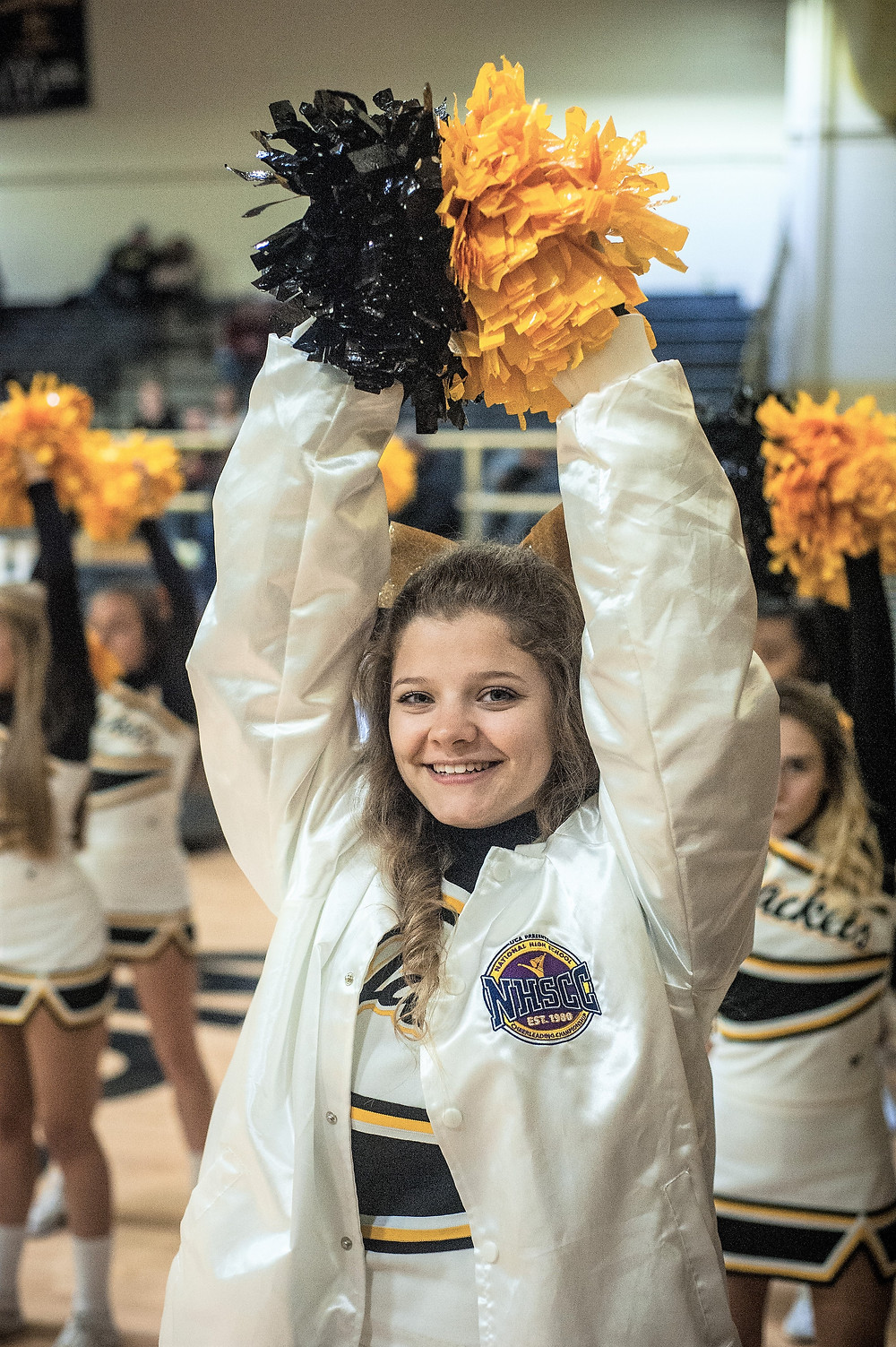 KATARINA MORRIS patrols the sidelines during senior night at WCHS on Feb. 16. (Photo by Bill Caine)