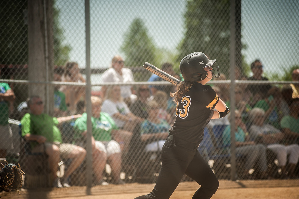 THE 2017 SEASON did not end the way the Woodford County High School softball team had hoped in the KHSAA Fast Pitch Softball State Tournament. The Lady Jackets' goal was to win the state title, but they fell short of their goal, losing in the consolation bracket by one run, 3-2, to East Carter on Friday, June 9, giving them a 2-2 record in the tournament. Shown in the photo is Leea Cole sliding safely into third base. She finished with 13 strikeouts, while giving up three runs on five hits including a home run. (Photo by Bill Caine/www.billcaine.com)