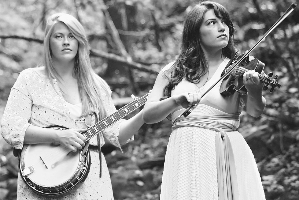 """LINDA JEAN STOKLEY, right, grew up in Pinckard and plays """"old-time"""" music with with bandmate Montana Hobbs as The Local Honeys. The duo met in college and, Stokley said, have been thick as thieves ever since. (Photo submitted)"""
