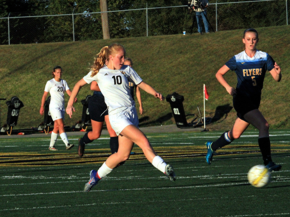 SHELBI MORRISON scored two goals to help Woodford defeat Franklin County, 4-0, in the 41st District Championship game on Thursday, Oct. 13, at Community Stadium. (Photo by Steve Blake/multiexposures.com)
