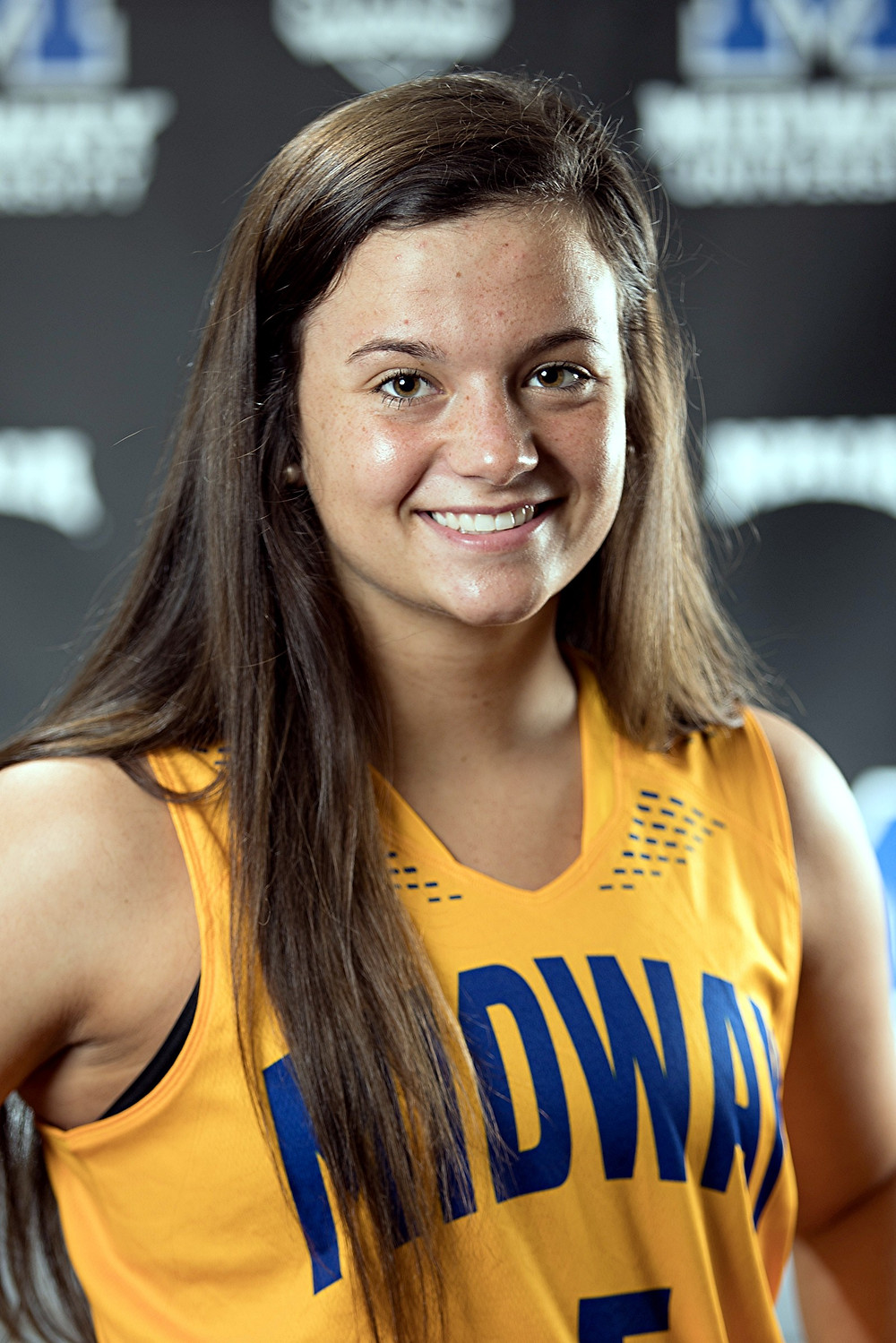 HALEIGH YAZELL, a freshman on the Midway University Women's basketball team, led the way with 14 points in the Eagles' 103-46 victory over Central Christian College. (Photo by Midway Univ. Athletics)