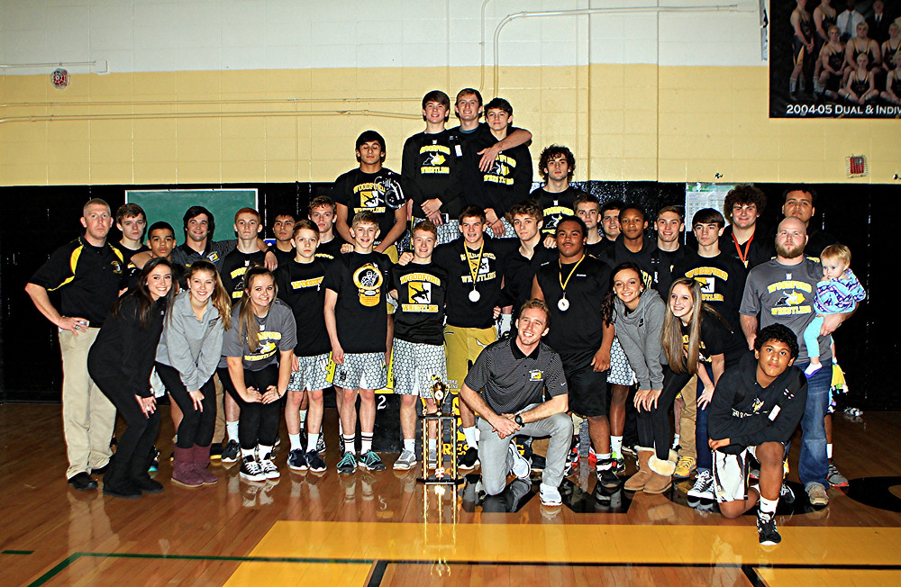 2015 WCI Champions. The Woodford County High School wrestling team hosted 23 teams on Tuesday, Dec. 29, in The Hive at its annual Woodford County Invitational wrestling tournament and finished in first place. In addition, the team had six champions and 11 overall placers. (Photo by Steve Blake/multiexposures.com)