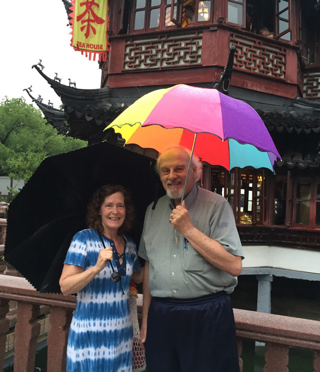 DR. ERNEST YANARELLA, seen here with his wife, Elizabeth, last summer in Shantou, China, will be returning to semi-familiar ground soon: He's one of 10 scholars worldwide to receive a Shanghai Elite Collaborative Research grant and will spend parts of the next year there. (Photo submitted)