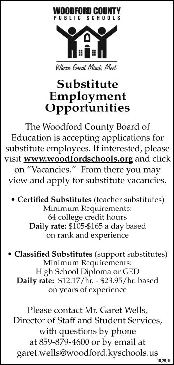 WCPS Substitute Employment Opportunites