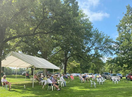 Churches took services outdoors during summer of COVID