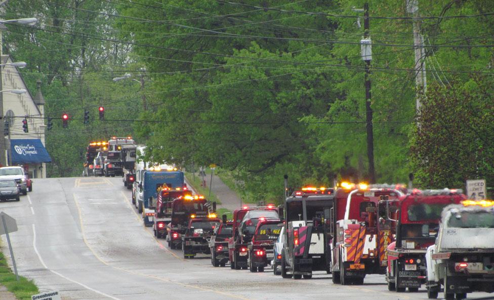 Tow truck funeral crop