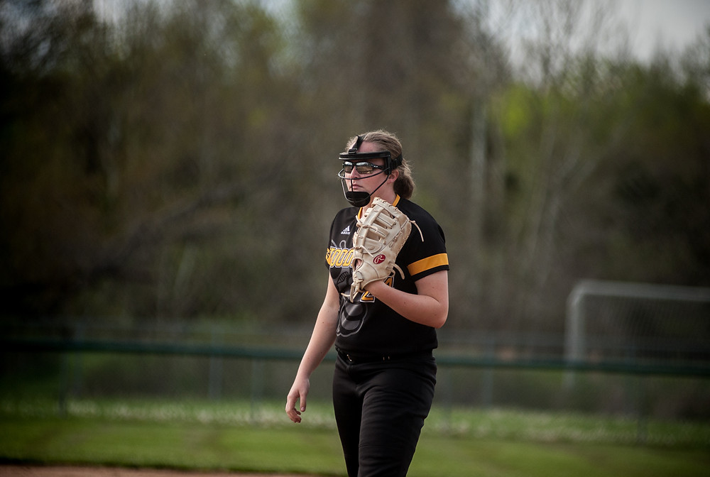 WCHS SOPHOMORE DELANEY ENLOW verbally committed to play softball at the University of Lafayette-Louisiana on April 23. (Photo by Bill Caine)
